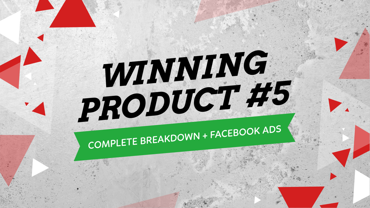 Facebook Ads Winning Product Testing