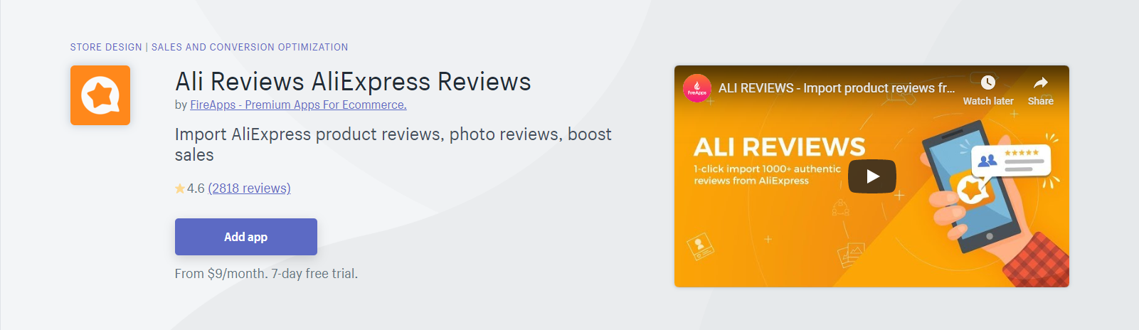 Ali Reviews Shopify App