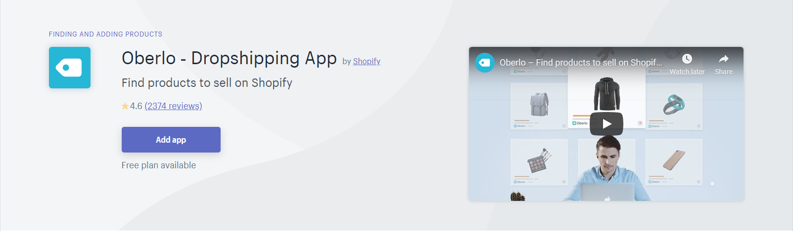 Oberlo Shopify App Dropshipping
