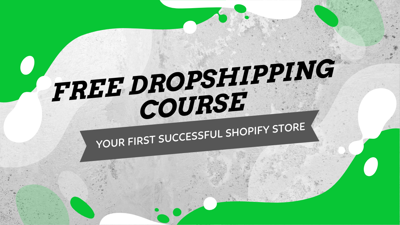 Free Dropshipping Course How To Build Your First Shopify Store