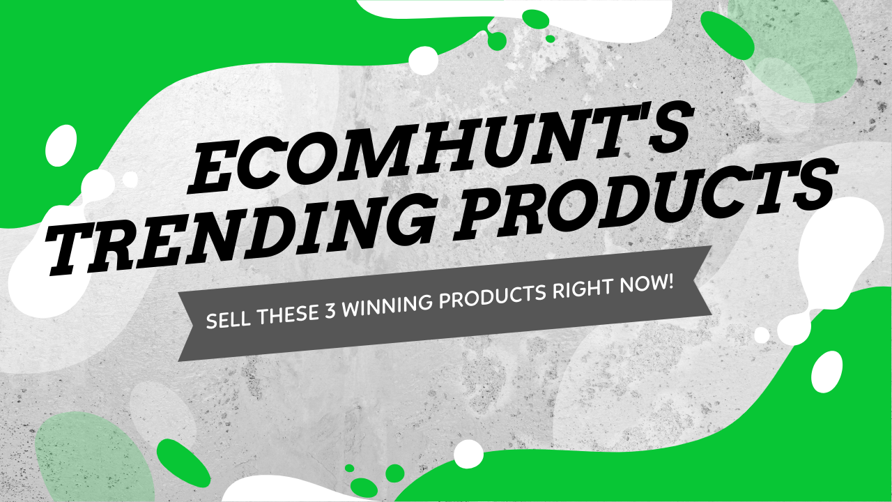 Ecomhunt's Trending Products Recommendation - Sell These 3 Winning Products Right Now!