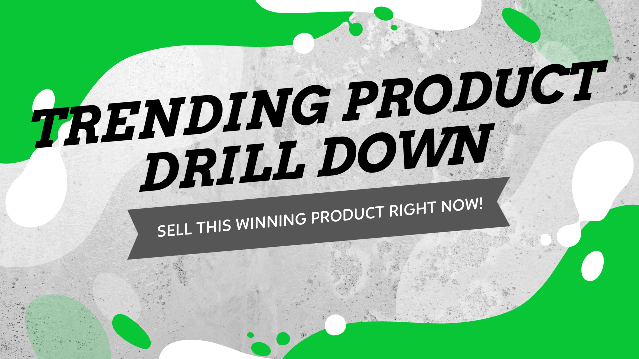 Trending Product Drill Down - Sell This Winning Product Right Now!