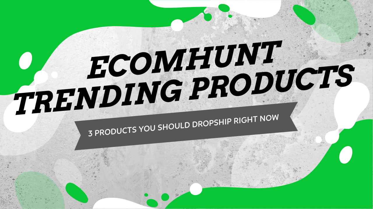 Ecomhunt Trending Products - 3 Products You Should Dropship Right Now!