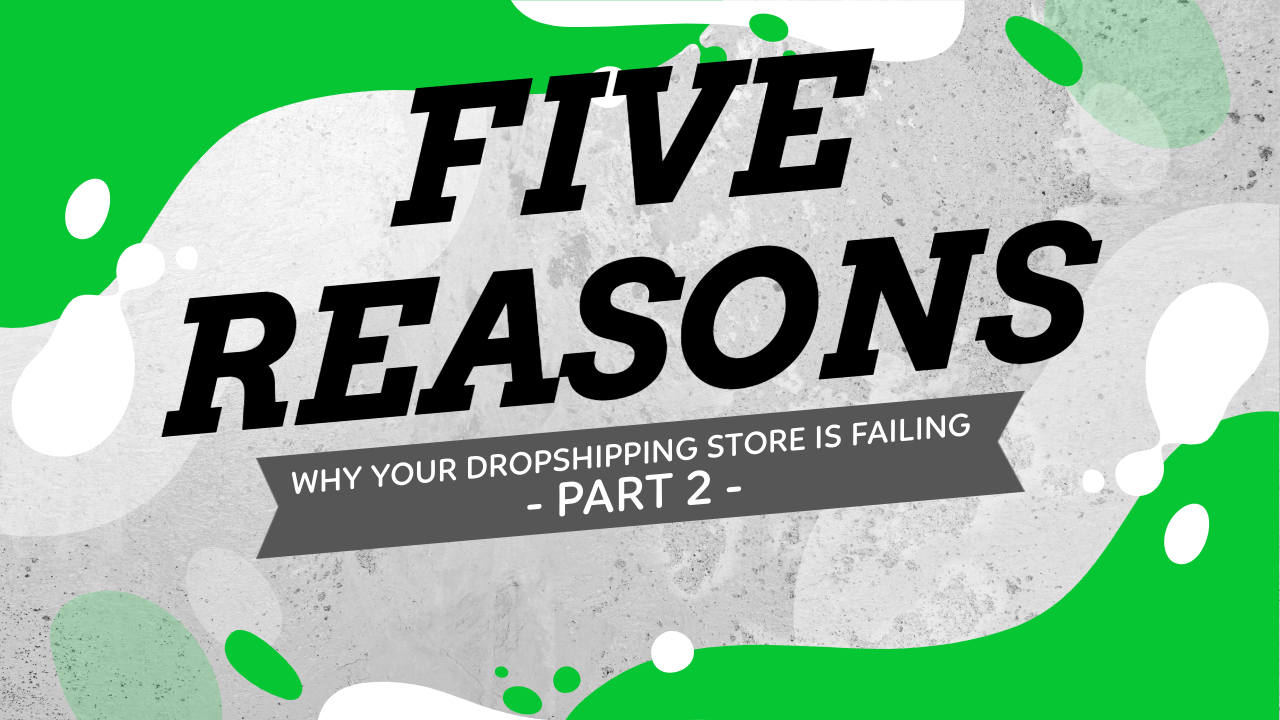 5 Reasons Why Your Dropshipping Store Is Failing - Part 2
