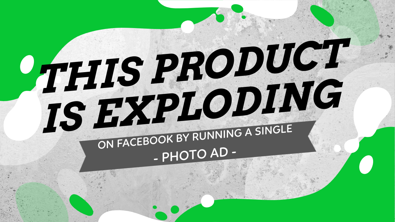 This Product is Exploding On Facebook By Running A Single Photo Ad - Sell This Product Now!