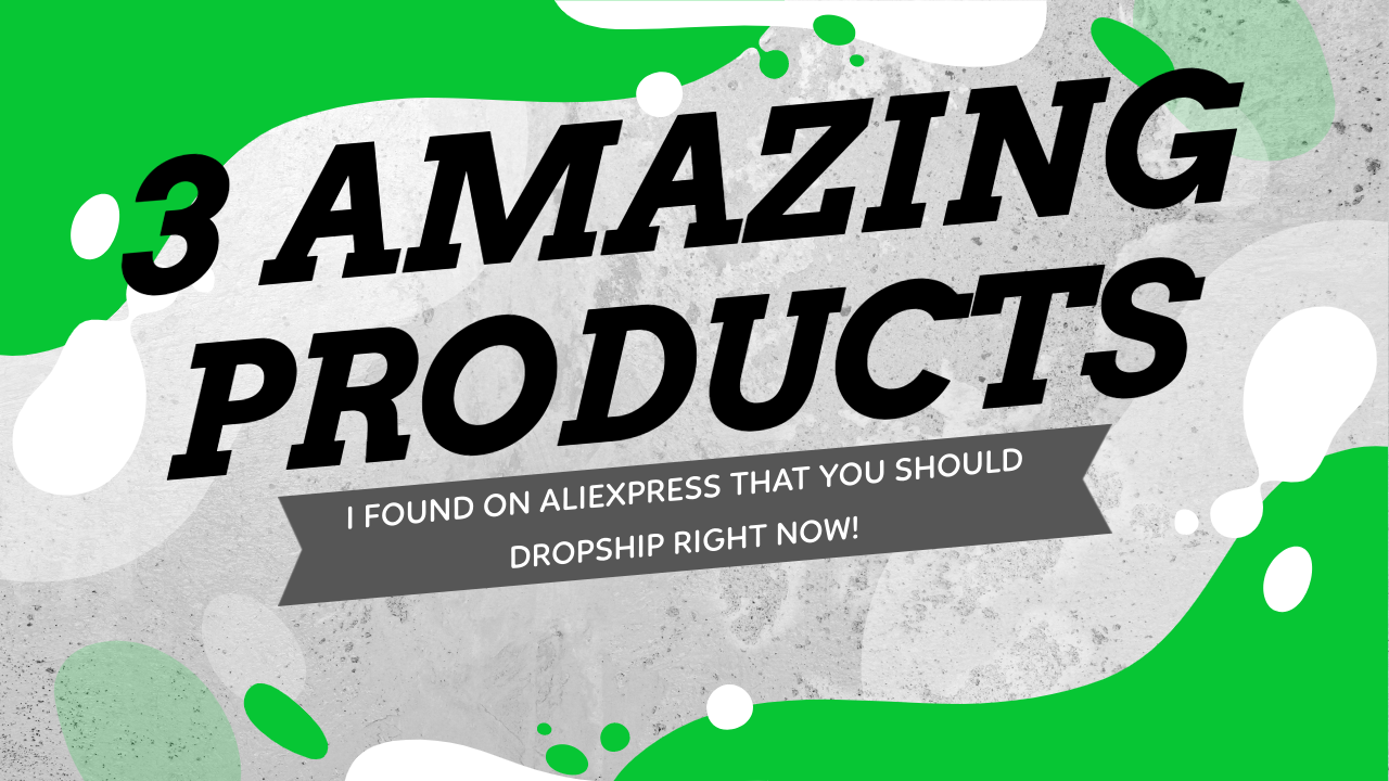 3 Amazing Products I Found On Aliexpress That You Should Dropship Right Now!