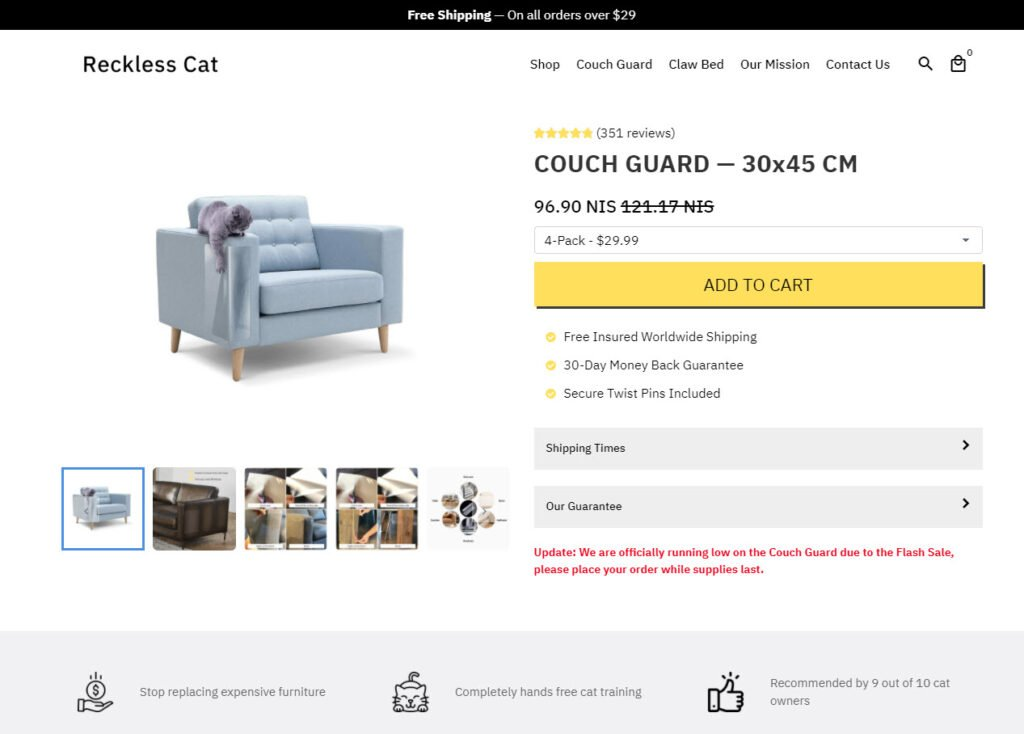Cat couch guard online store