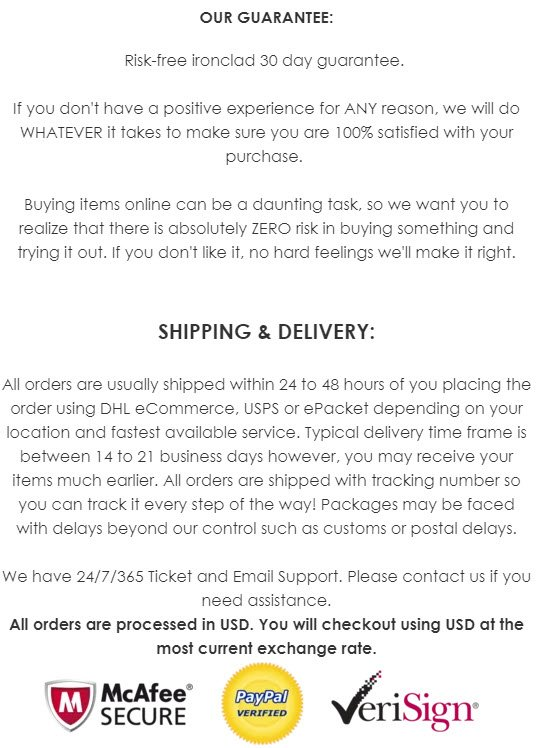 Shopify store guarantees