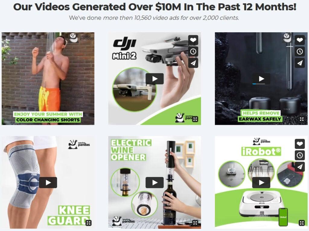 Waving Pandas video ad examples